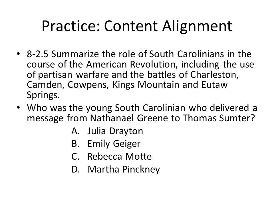 Practice: Content Alignment