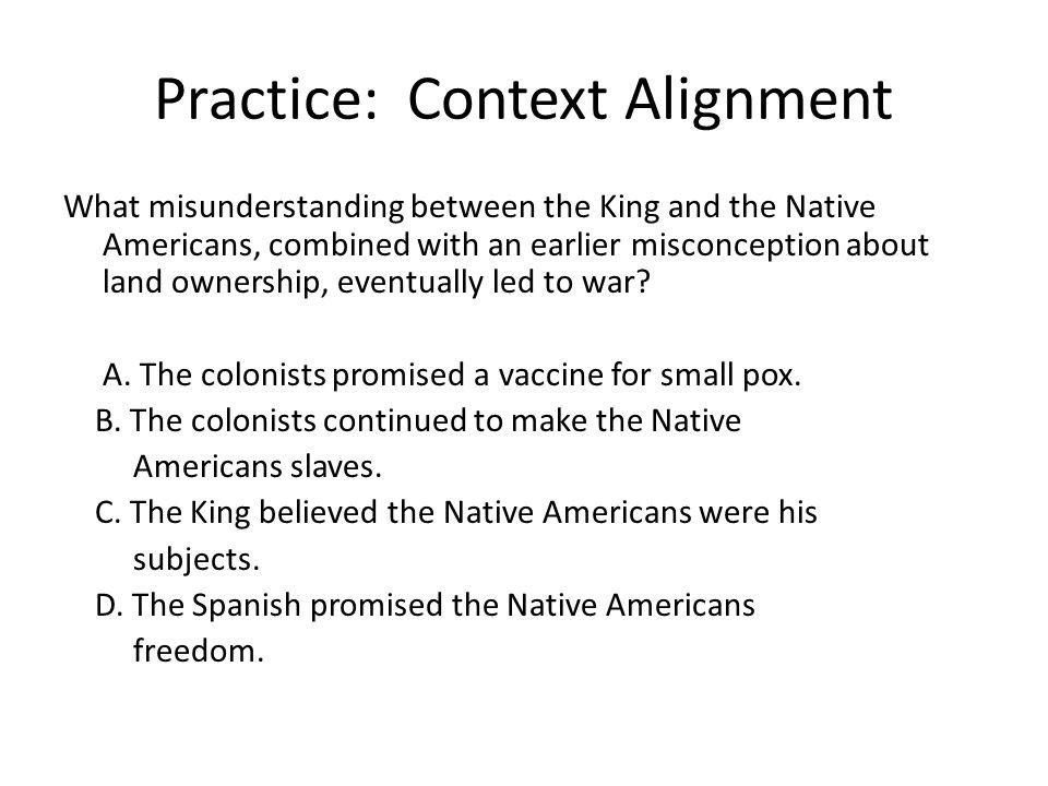Practice: Context Alignment