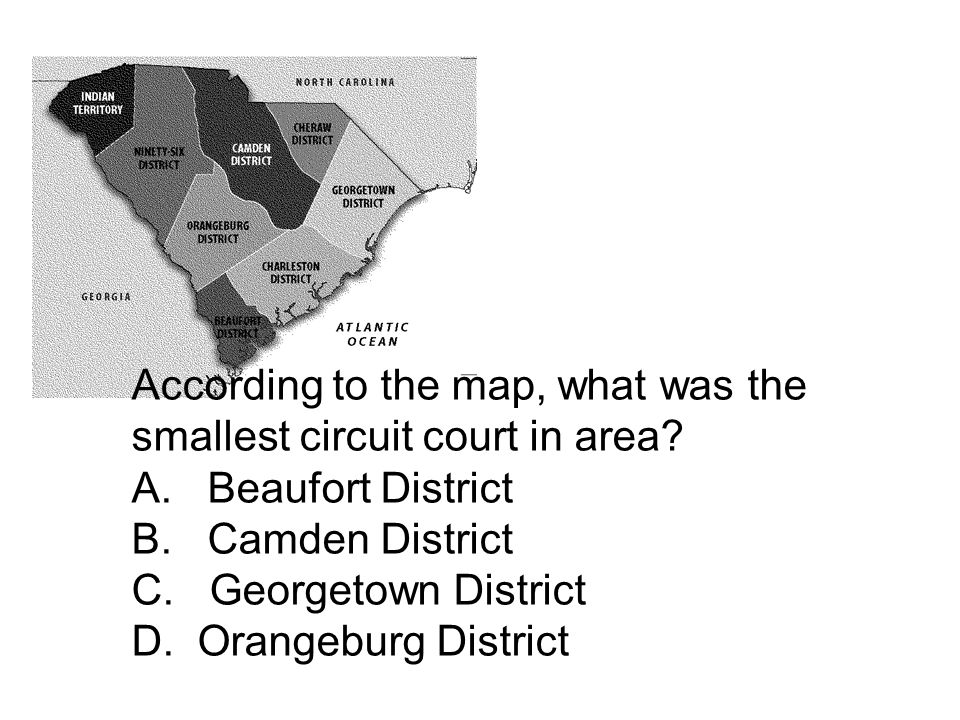 According to the map, what was the smallest circuit court in area