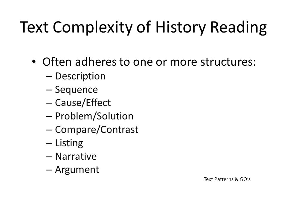 Text Complexity of History Reading