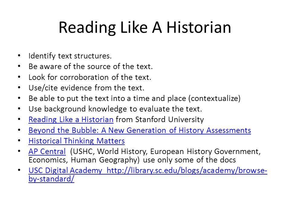 Reading Like A Historian