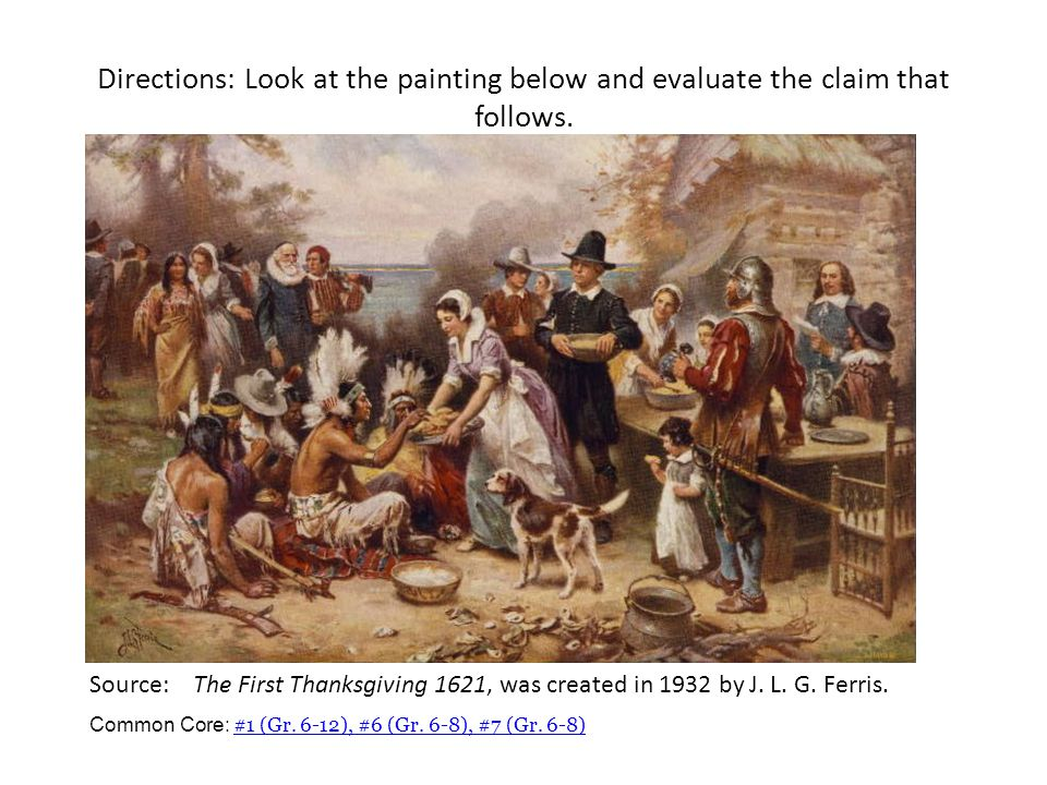 Directions: Look at the painting below and evaluate the claim that follows.