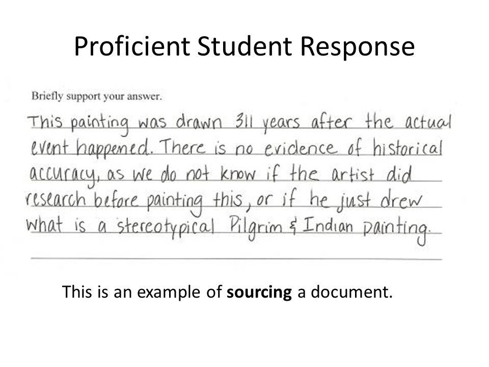 Proficient Student Response