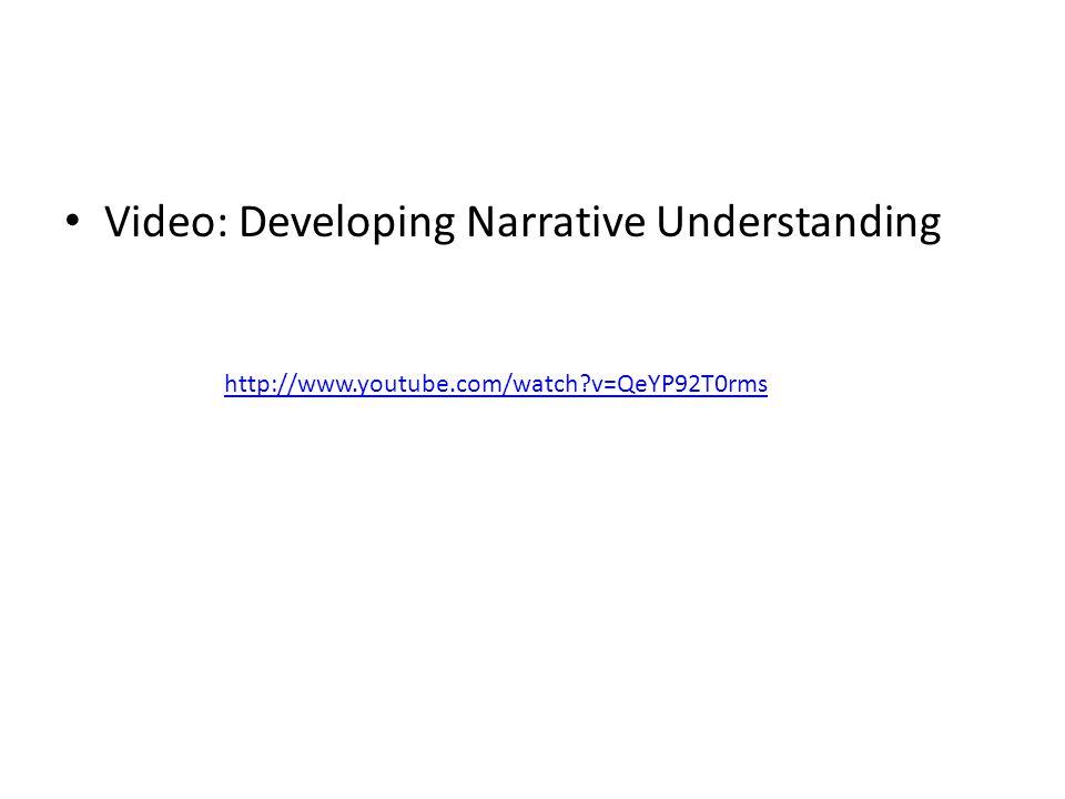 Video: Developing Narrative Understanding