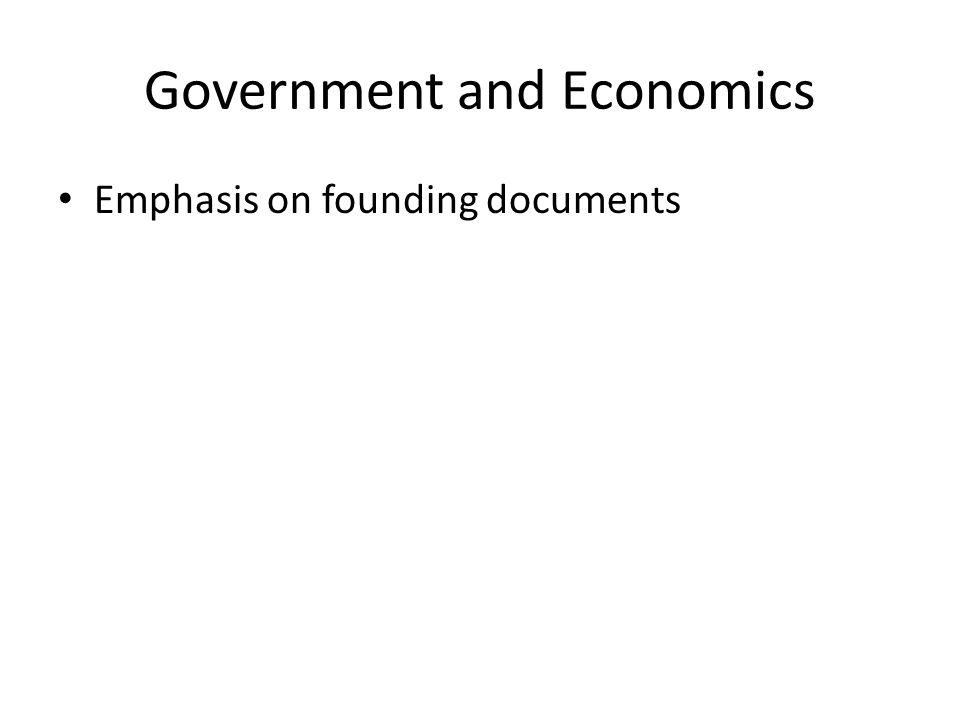 Government and Economics