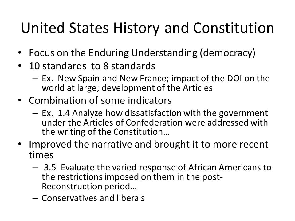United States History and Constitution