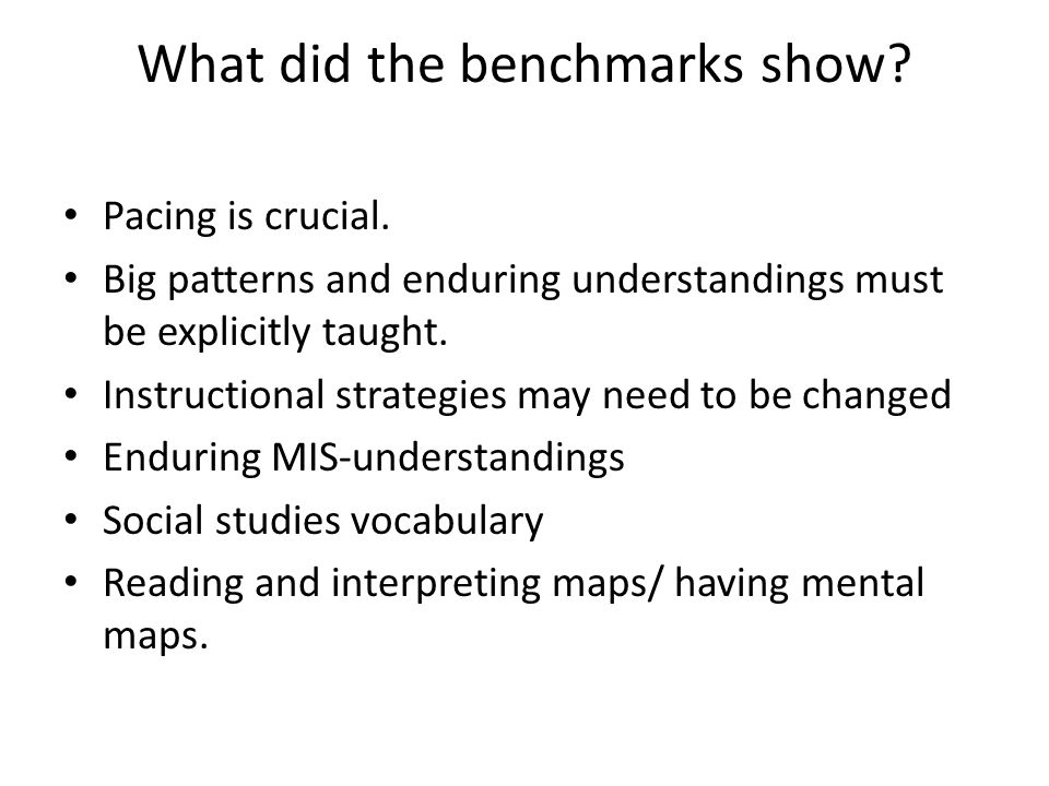 What did the benchmarks show