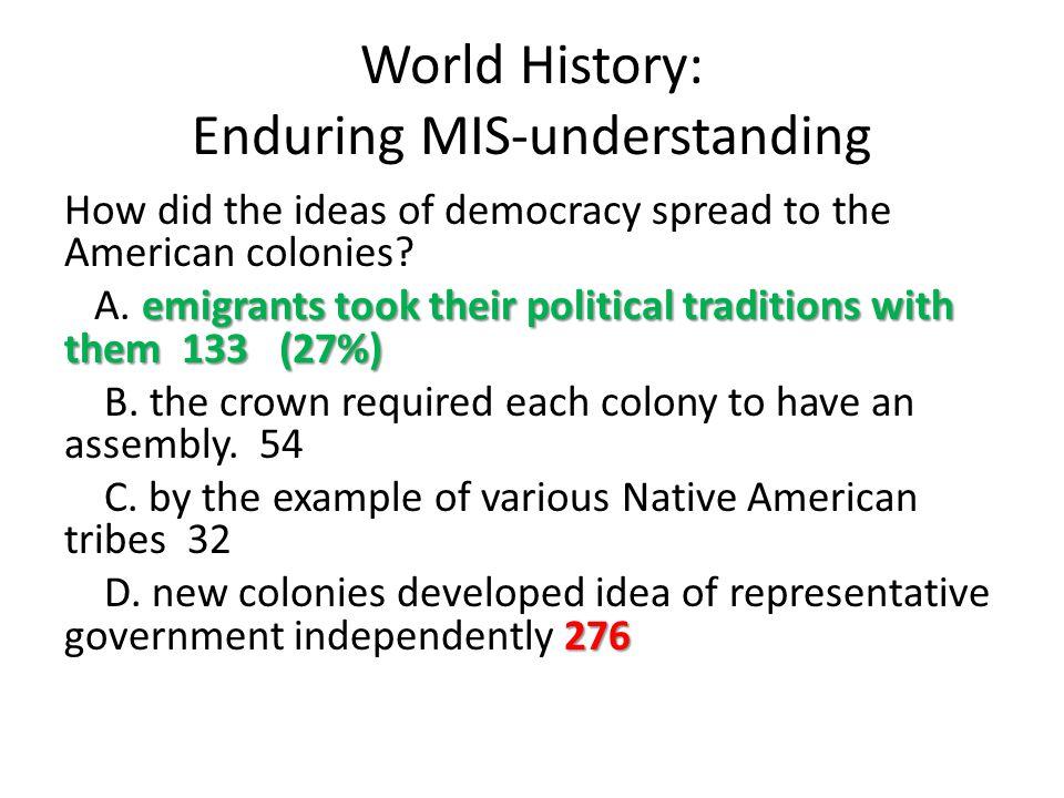 World History: Enduring MIS-understanding