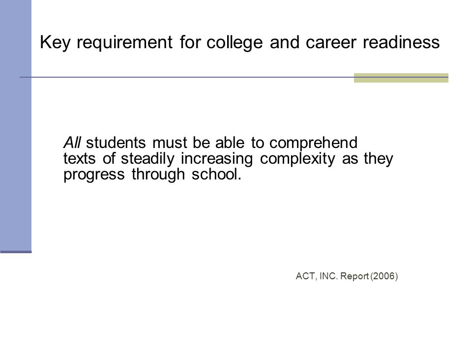 What are the current realities in college and career readiness
