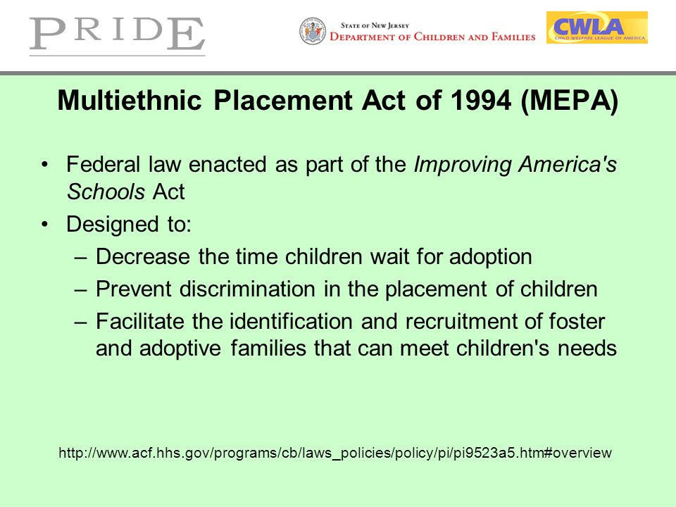 Multiethnic Placement Act of 1994 (MEPA)