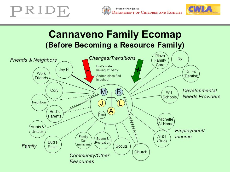 Cannaveno Family Ecomap (Before Becoming a Resource Family)