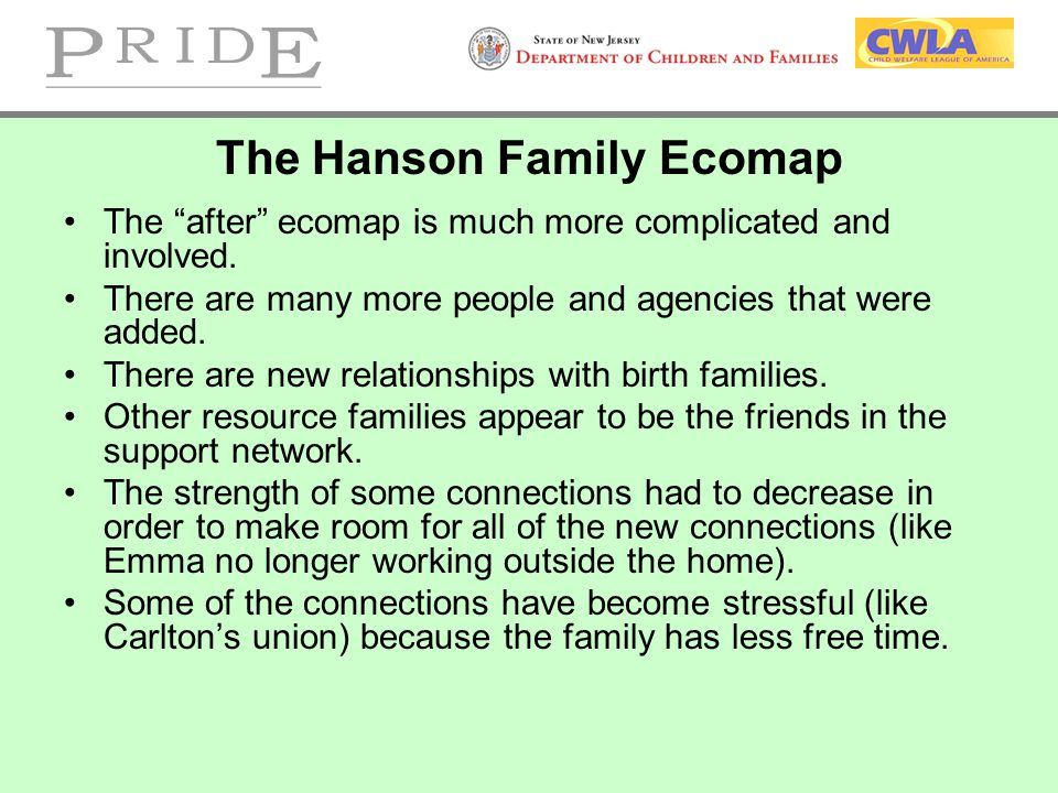 The Hanson Family Ecomap