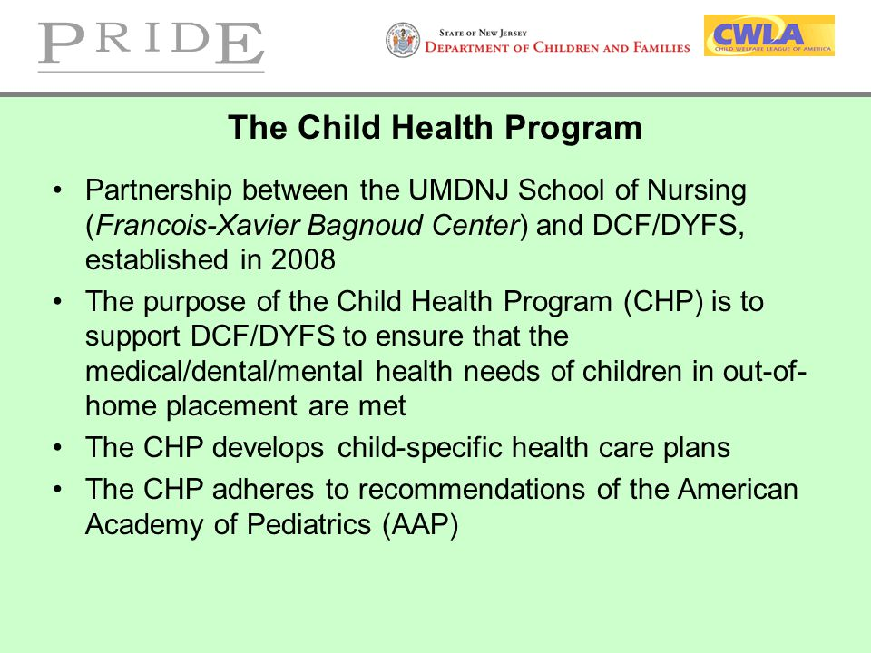 The Child Health Program