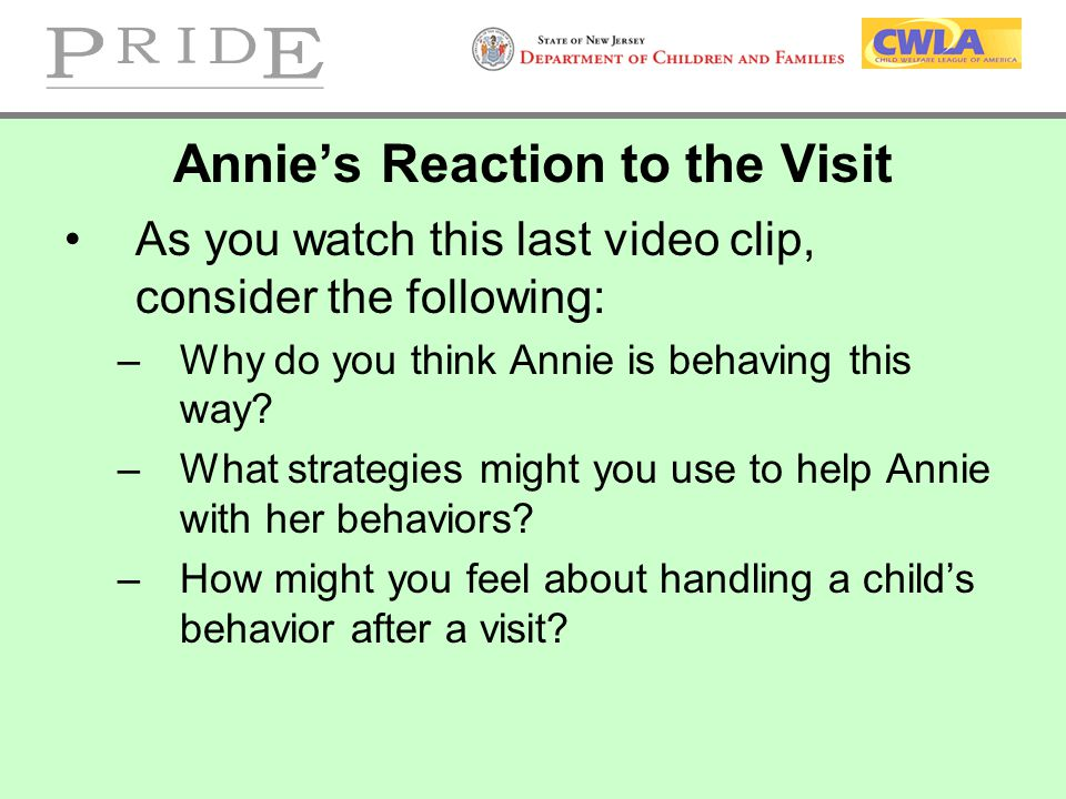 Annie's Reaction to the Visit