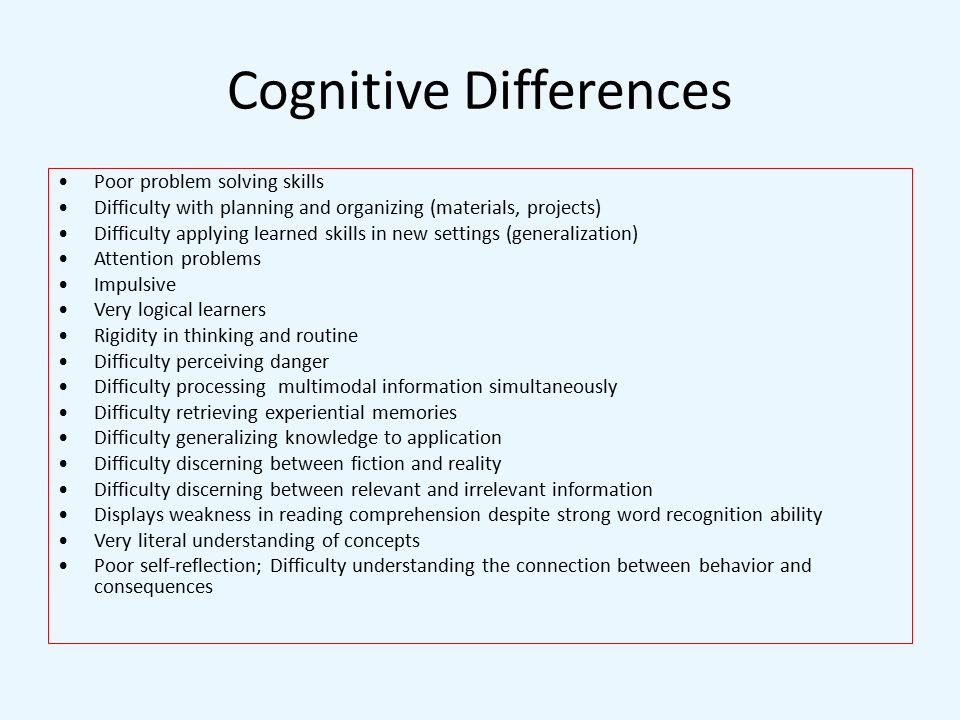 Race differences in cognitive ability