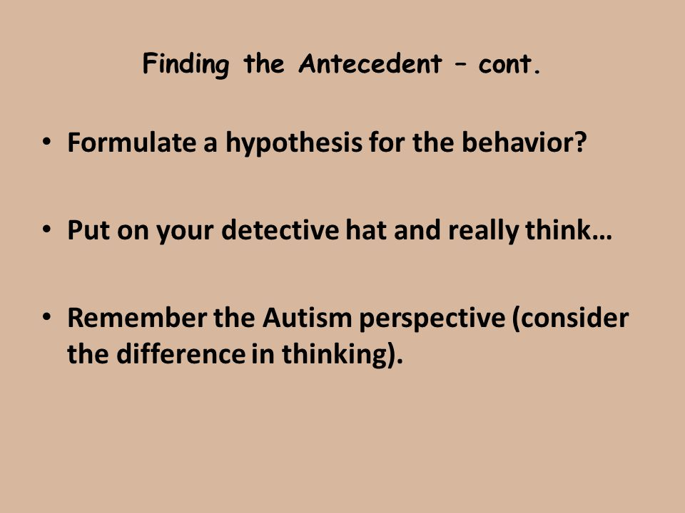 Finding the Antecedent – cont.