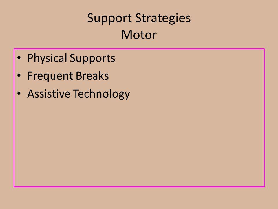 Support Strategies Motor