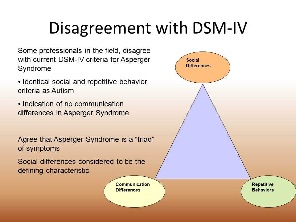 Disagreement with DSM-IV