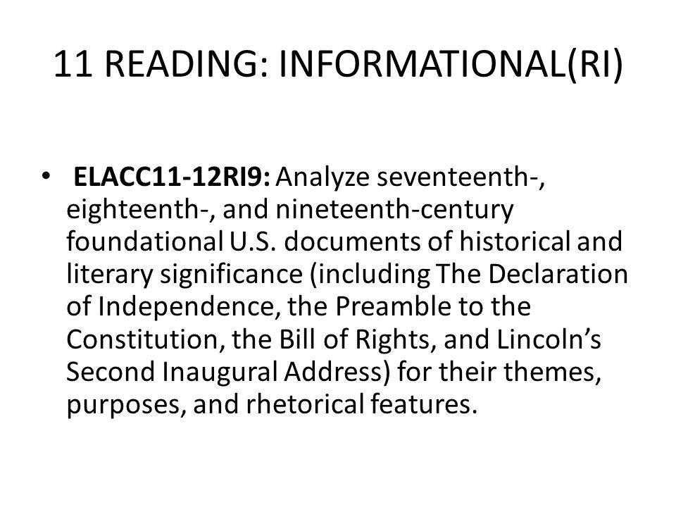 11 READING: INFORMATIONAL(RI)