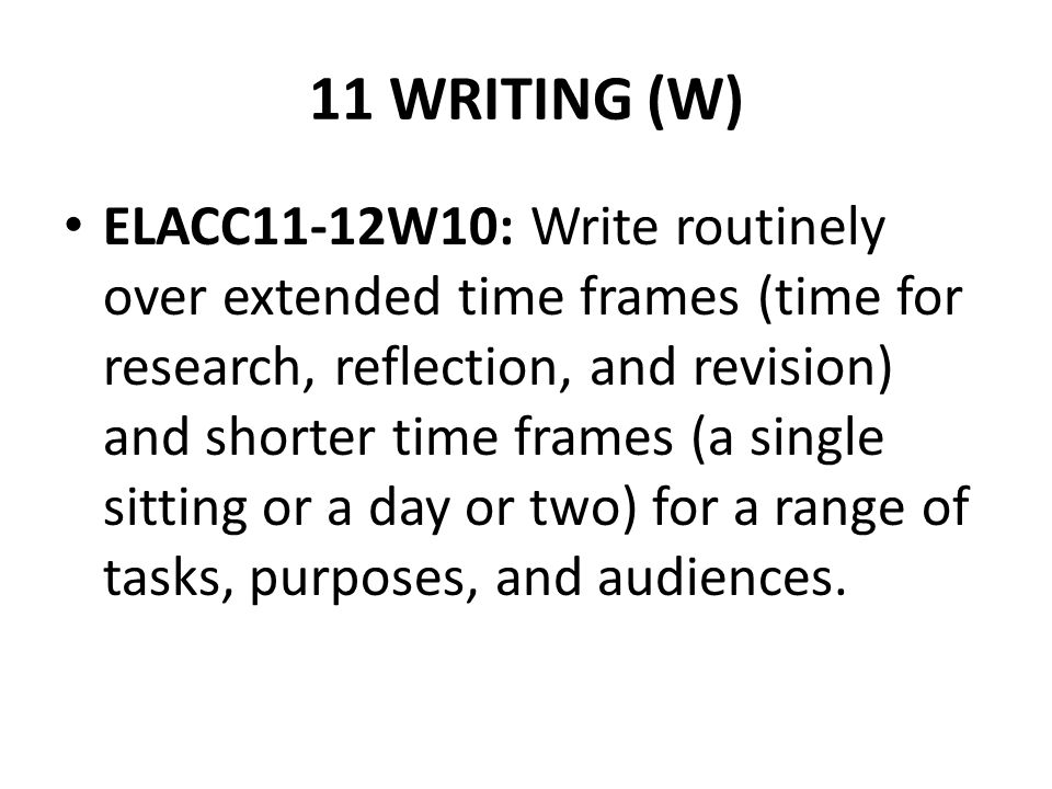 11 WRITING (W)