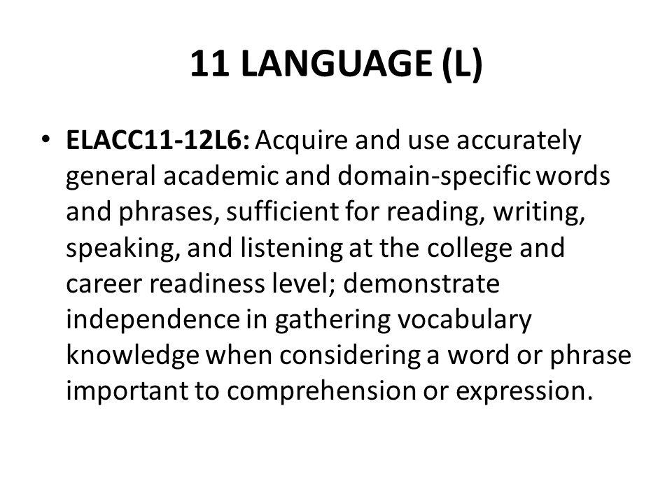 11 LANGUAGE (L)