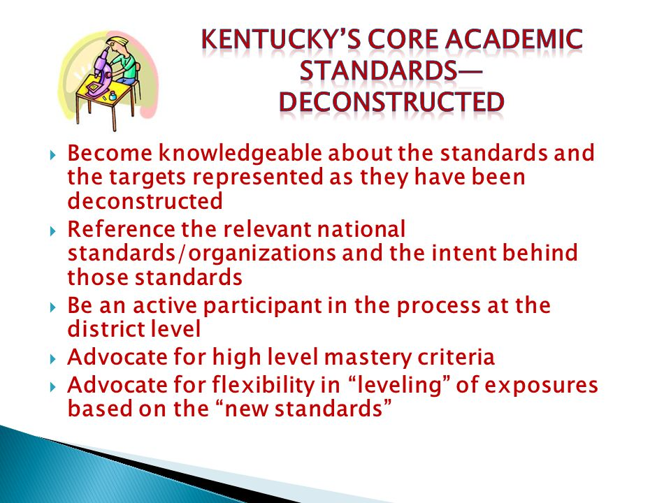 Kentucky's Core Academic Standards—