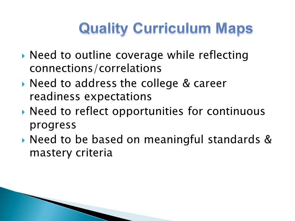 Quality Curriculum Maps