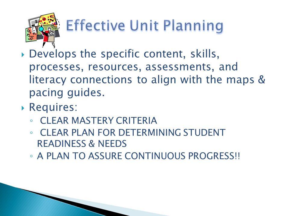 Effective Unit Planning