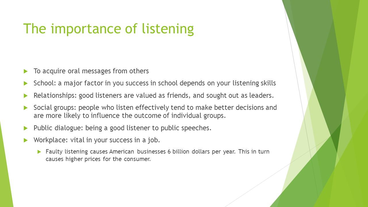 Why Is Listening Important?