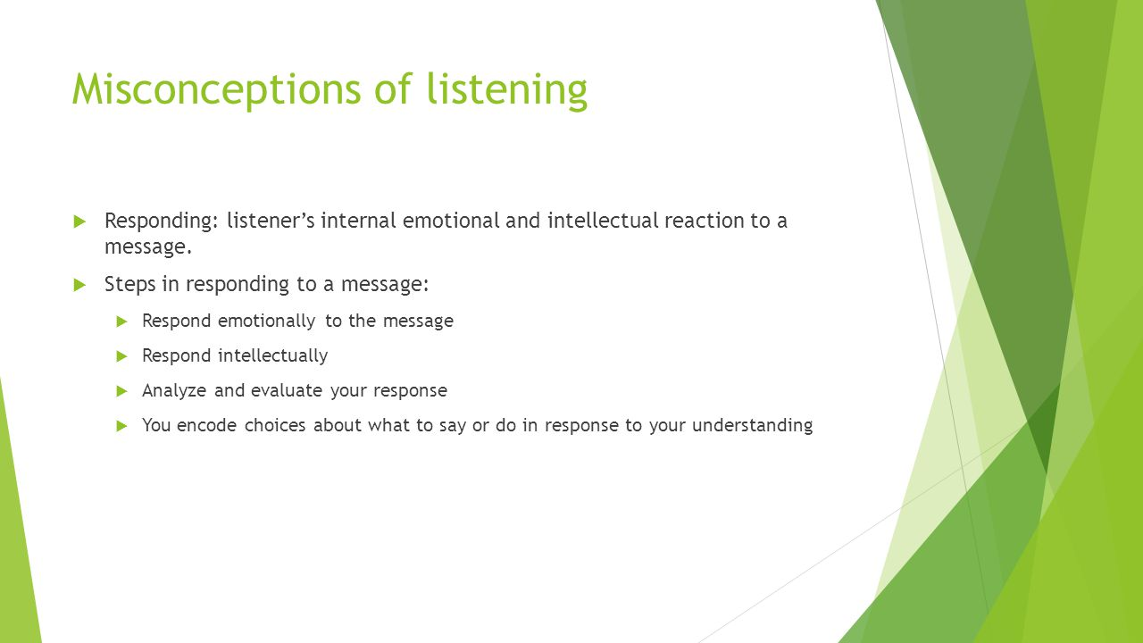 Misconceptions of listening