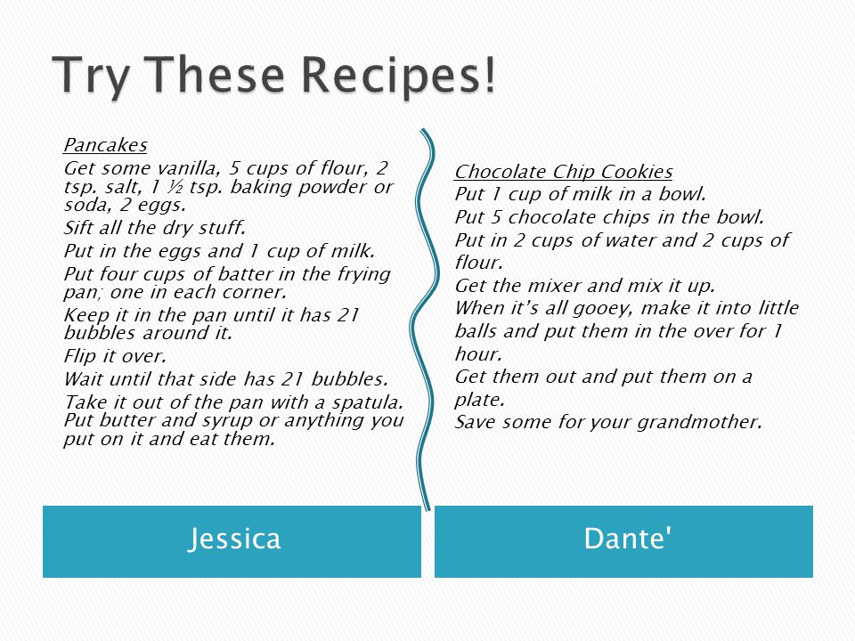 Try These Recipes! Jessica Dante Pancakes