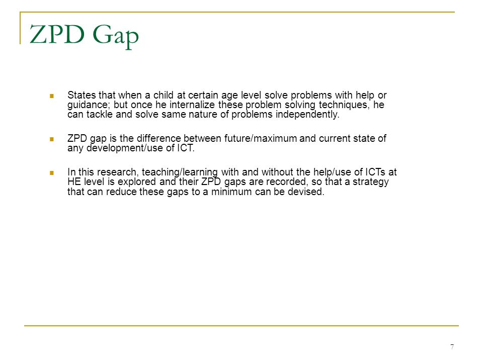 ZPD Gap