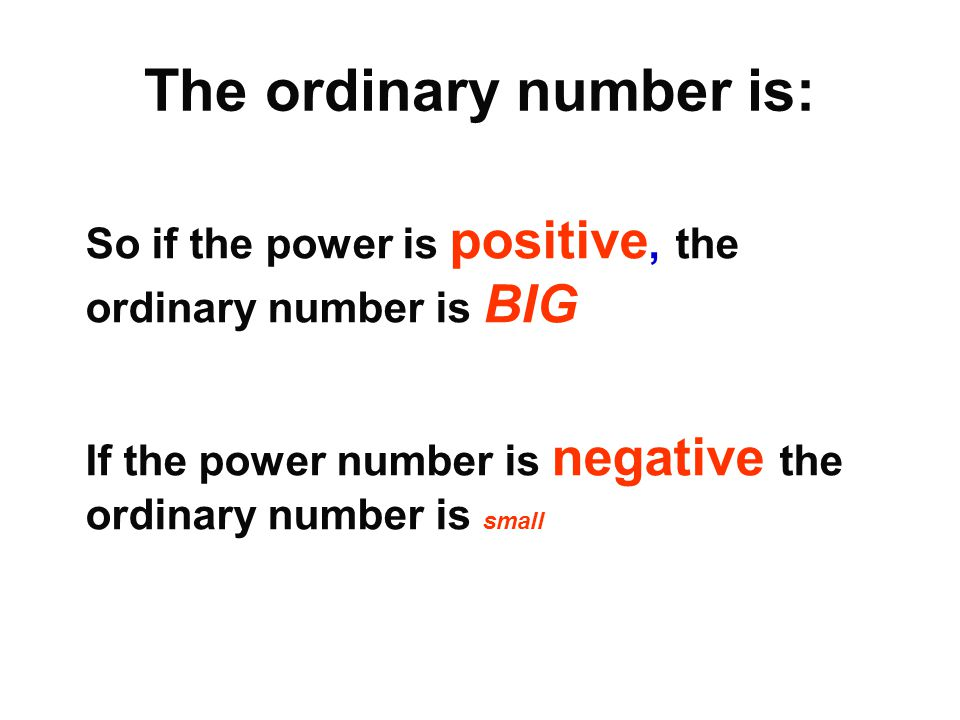 The ordinary number is: