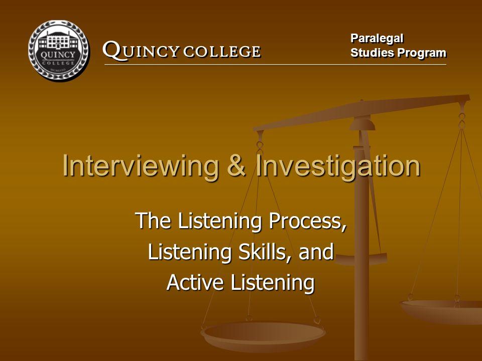 Interviewing & Investigation