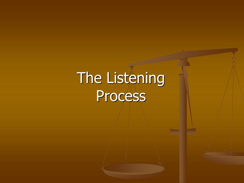 The Listening Process