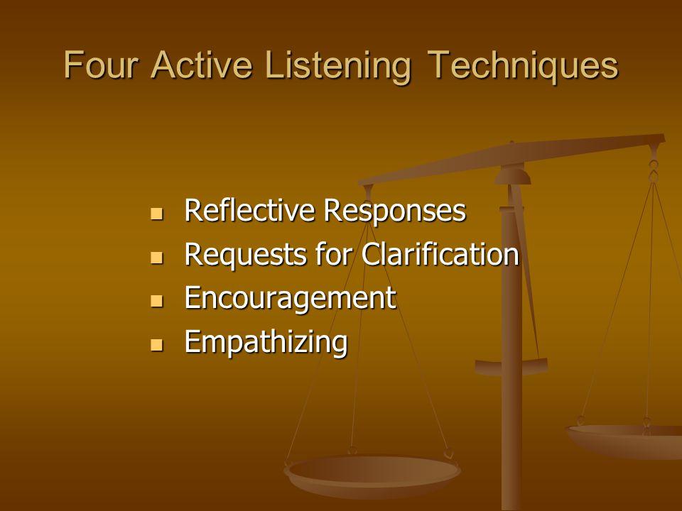 Four Active Listening Techniques