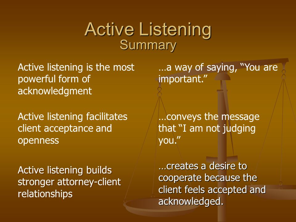 Active listening builds stronger attorney-client relationships