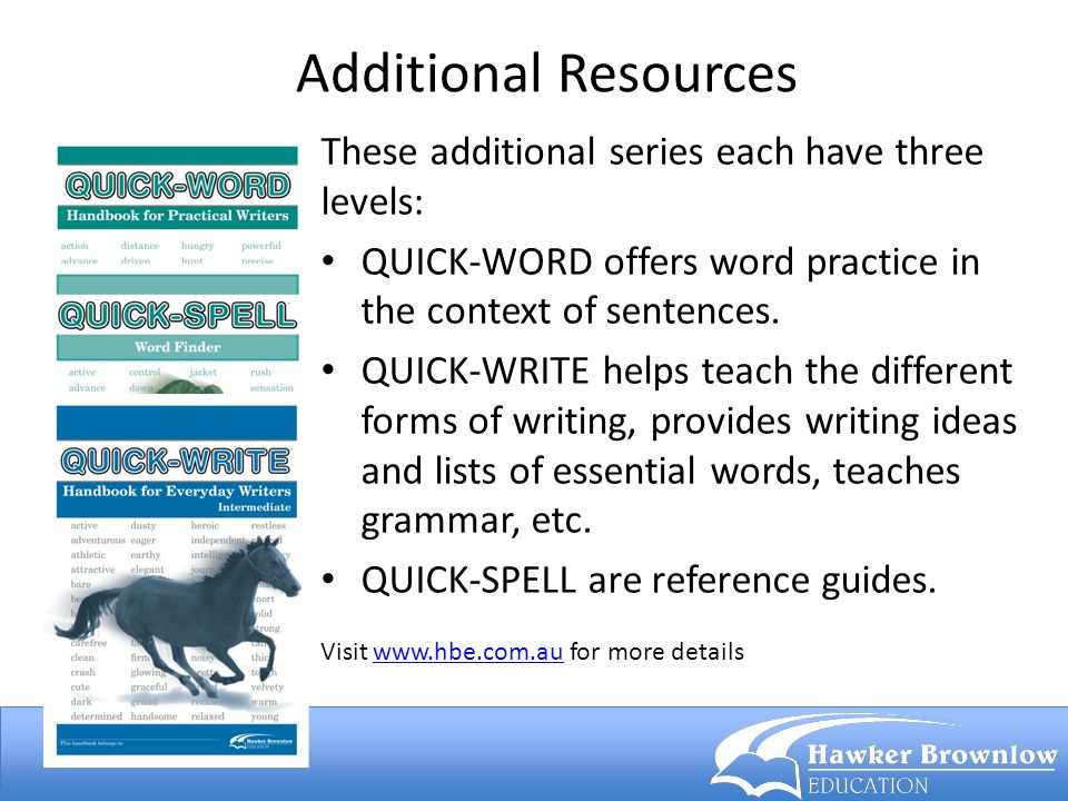 Additional Resources These additional series each have three levels: