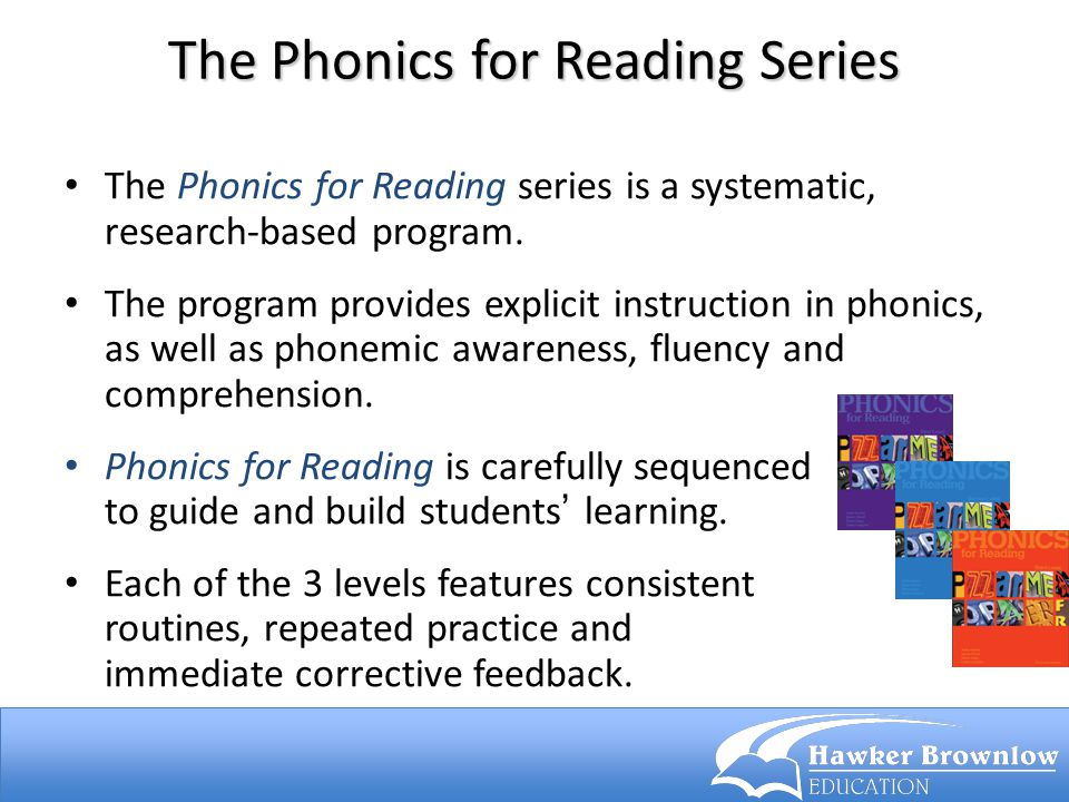 The Phonics for Reading Series