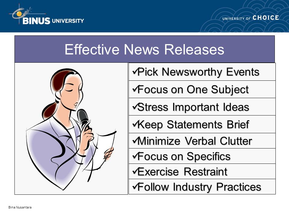 Effective News Releases