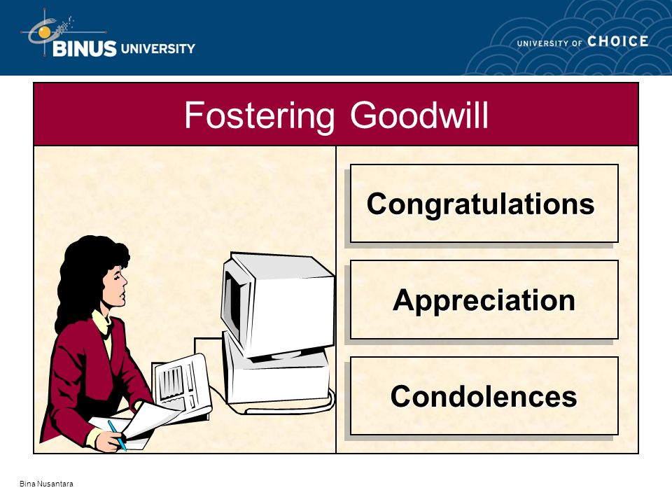 Fostering Goodwill Congratulations Appreciation Condolences