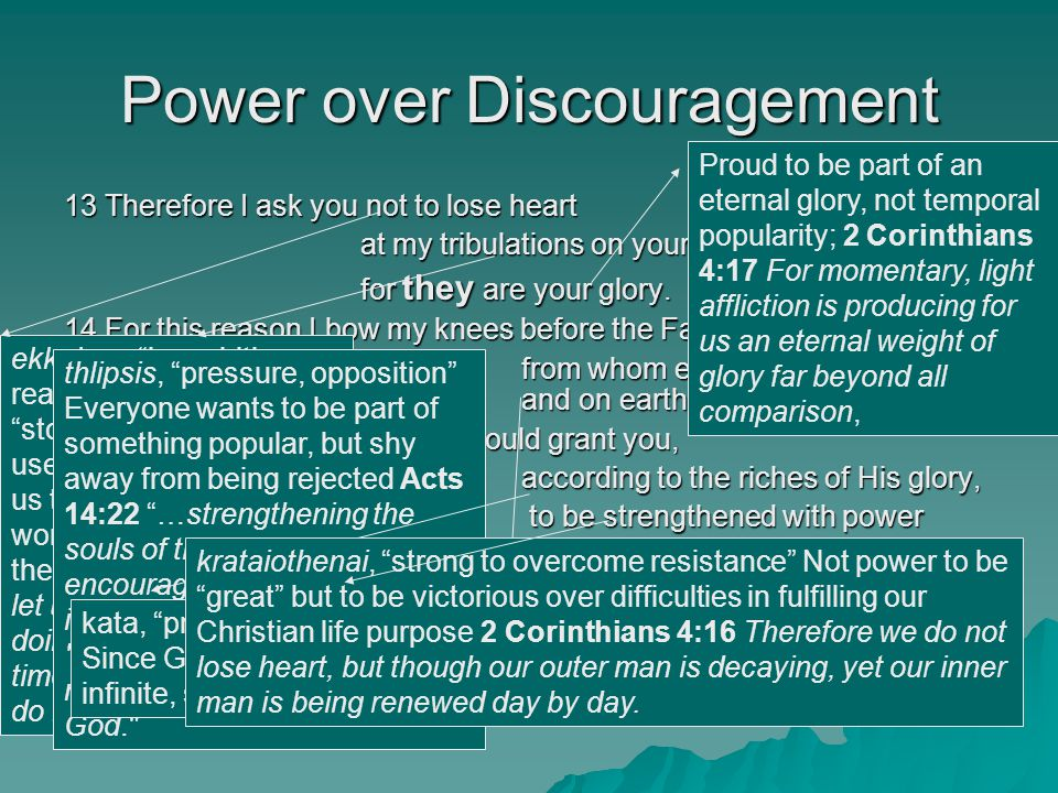 Power over Discouragement