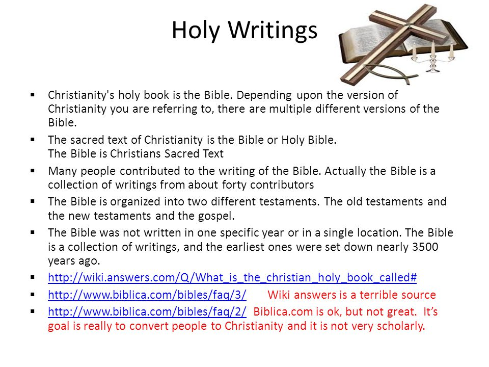 Holy Writings