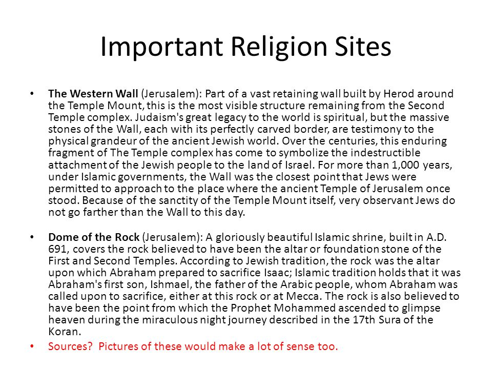 Important Religion Sites