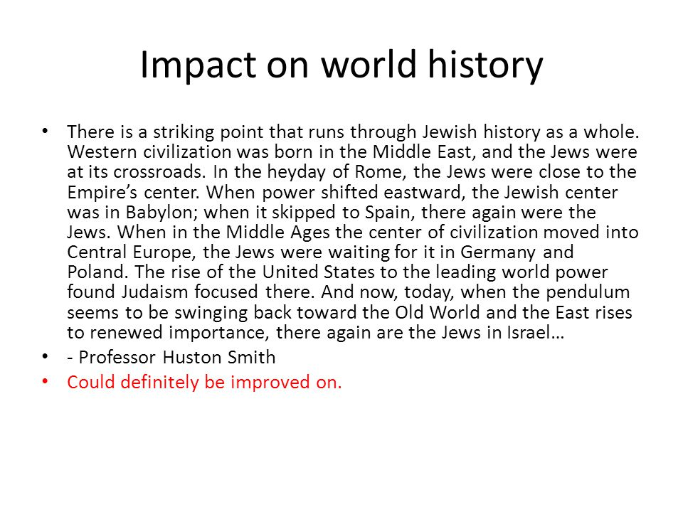 Impact on world history