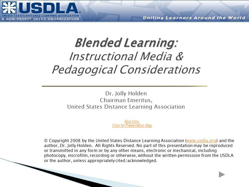 Blended Learning: Instructional Media & Pedagogical Considerations