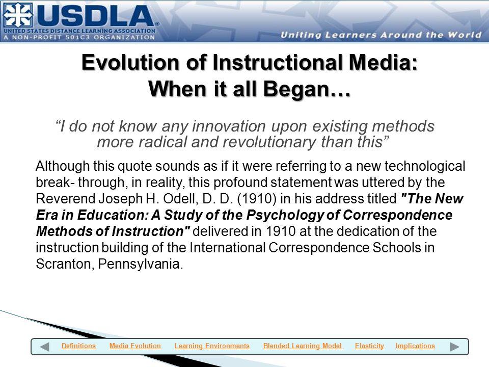 Evolution of Instructional Media:
