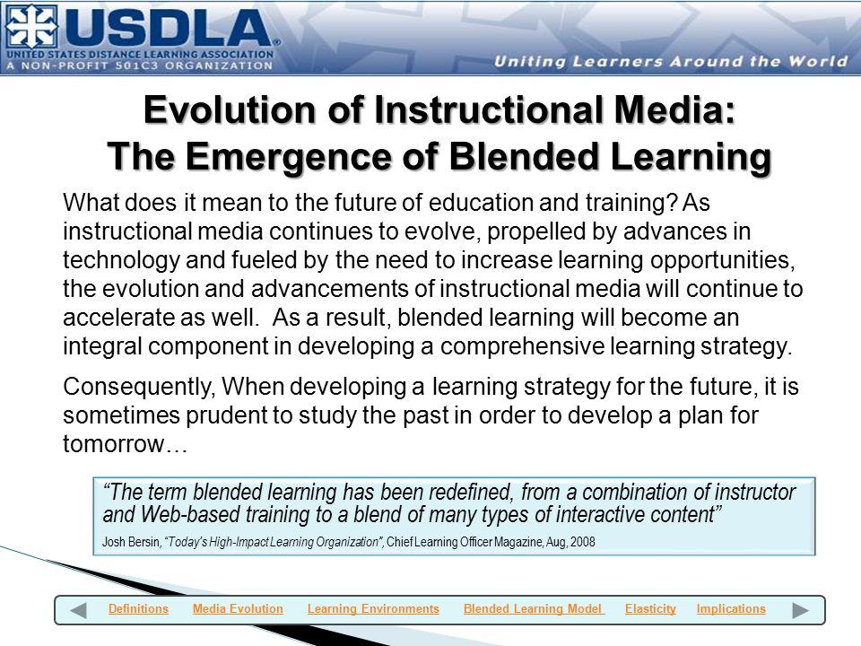 Evolution of Instructional Media: The Emergence of Blended Learning