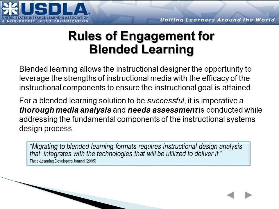 Rules of Engagement for Blended Learning