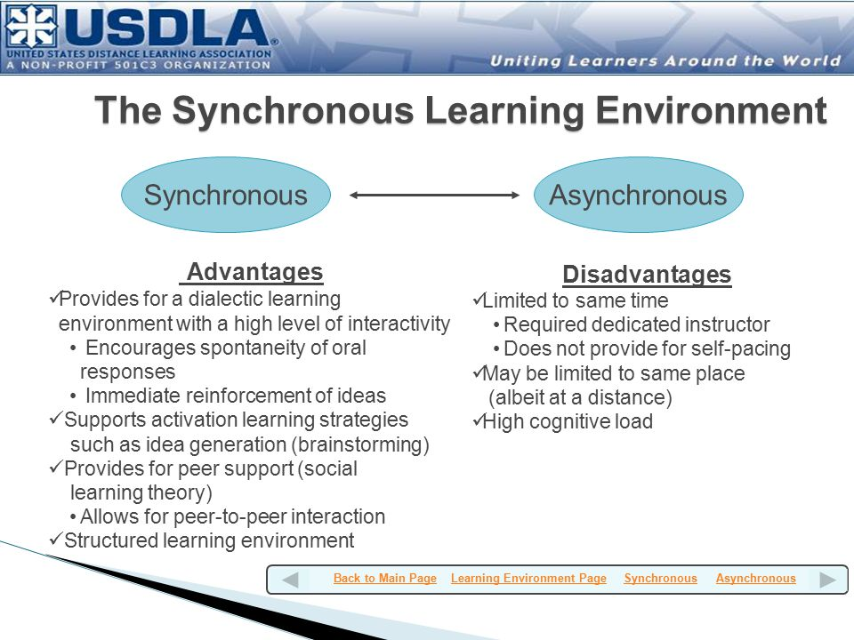 The Synchronous Learning Environment